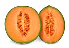 Melon orange de cantaloup Photographie stock libre de droits
