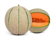 Melon orange de cantaloup Images libres de droits