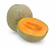 Melon orange de cantaloup Photos stock