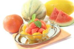 Melon orange salad Royalty Free Stock Photography
