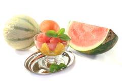 Melon orange salad Royalty Free Stock Image