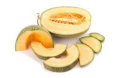Melon på vit Royaltyfri Foto