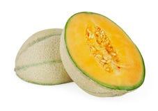 Melon på white Royaltyfri Foto