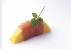 Melon and Parma ham appetizer Stock Photography