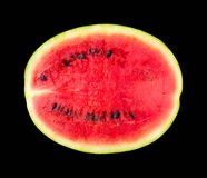 Melon pattern isolated on a black background, the view from the top. Stock Image