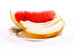Melon pieces Royalty Free Stock Images