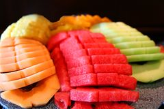 Melon Plate Royalty Free Stock Images