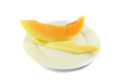 Melon on plate Stock Image