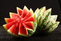 melon pokrajać woda Zdjęcie Royalty Free