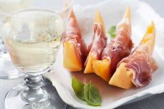 Melon and prosciutto Royalty Free Stock Photos