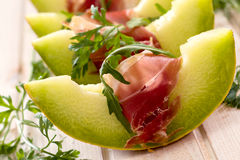 Melon and prosciutto Royalty Free Stock Photography
