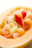 Melon seafood boat Stock Photos