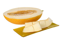 Melon with a slice Royalty Free Stock Photos