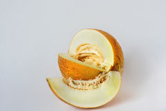 Melon sliced on a white background Stock Image