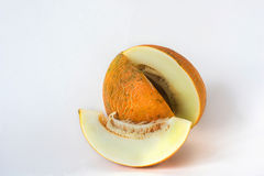 Melon sliced on a white background Royalty Free Stock Image