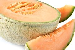 Melon Slices. Close up of melon slices Stock Photography