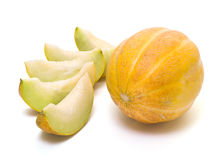 Melon slices Stock Images