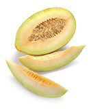 Melon with slices Stock Photography