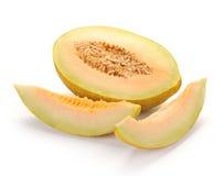 Melon with slices Stock Photos