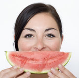 Melon smile Stock Images