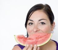Melon smile Stock Photography