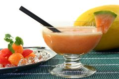 Melon Smoothie Stock Images