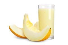 Melon smoothie. A delicious melon smoothie  over white Royalty Free Stock Photo