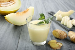 Melon smoothie and ginger Stock Image