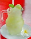 Melon smoothies Stock Photo