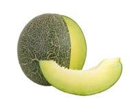 Melon som isoleras på vitbakgrund Arkivfoton
