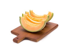 Melon som isoleras på vitbakgrund Royaltyfri Foto