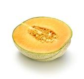 Melon som in skivas, halverar Royaltyfria Foton