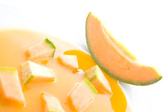 Melon soup Royalty Free Stock Photography