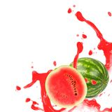 Melon splash Stock Photos