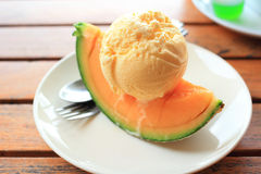 Melon summer icecream Stock Photo