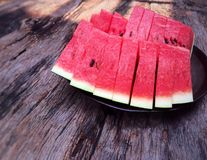 Melon. Sweet melon is red Stock Image
