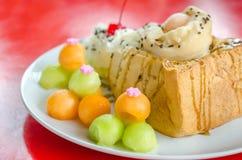Melon toast Stock Photography
