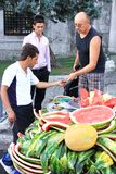 Melon vendor Stock Image