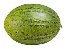 Melon vert d'isolement sur le fond blanc avec le chemin de coupure Images stock