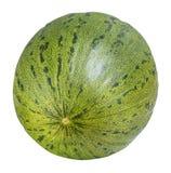 Melon vert d'isolement sur le fond blanc avec le chemin de coupure Image stock