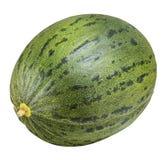 Melon vert d'isolement sur le fond blanc avec le chemin de coupure Photos libres de droits