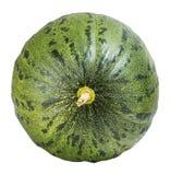 Melon vert d'isolement sur le fond blanc avec le chemin de coupure Photo stock