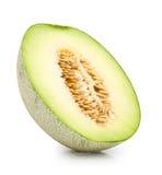 melon vert de cantaloup d'isolement Image libre de droits