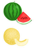 Melon and watermelon Royalty Free Stock Photography