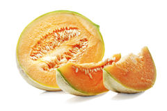 Melon on the white background. Stock Photos