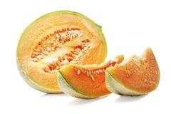 Melon on the white background. Stock Photos