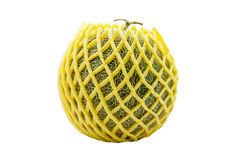 Melon in yellow shockproof material isolated on white Stock Image