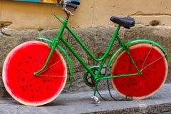 Meloncykel i Italien royaltyfri bild