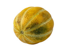 Melone arancio isolato su fondo bianco Fotografie Stock