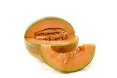 Melone arancio isolato su fondo bianco Immagini Stock